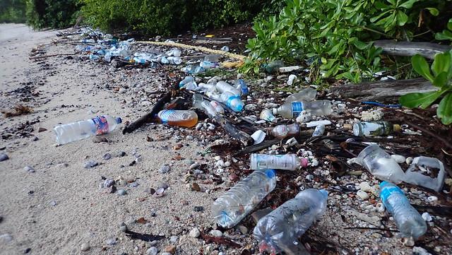 Marine trash on Pulau Tekukor