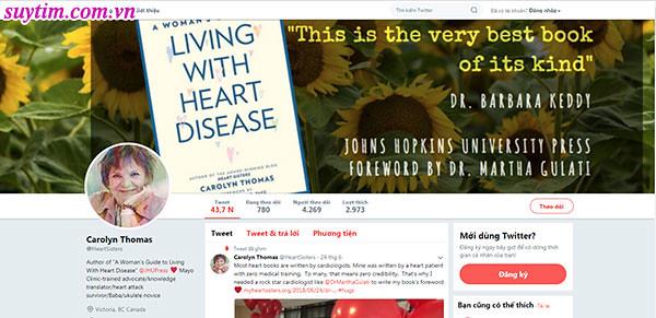 Carolyn Thomas và những chia sẻ về cách nhận biết sớm triệu chứng nhồi máu cơ tim