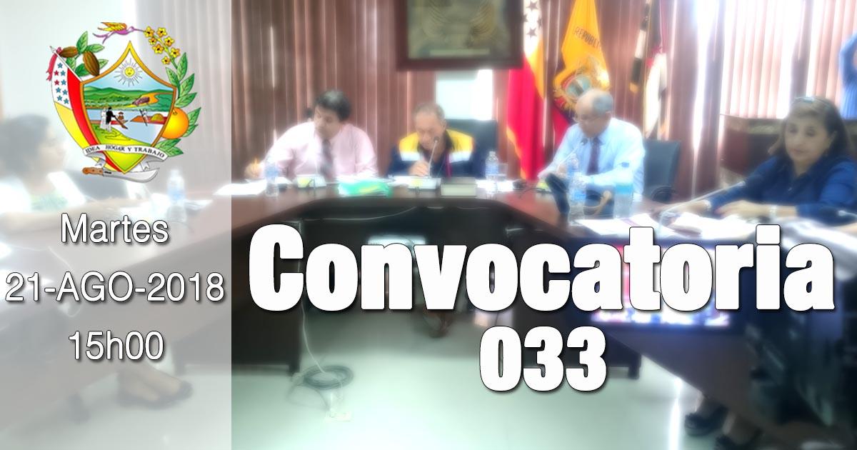 Convocatoria 033