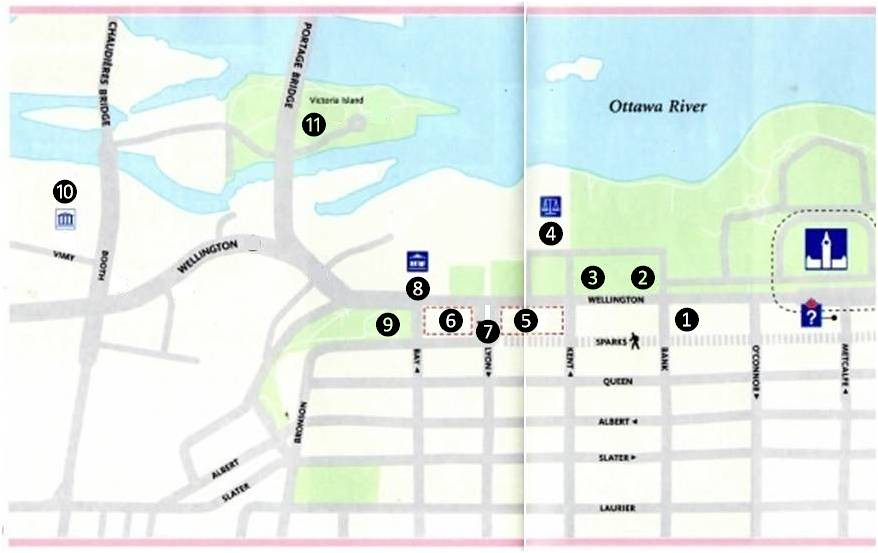 Ottawa Wellington Street MAP