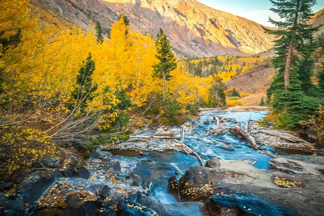 Lundy Canyon Waterfalls High Sierras Autumn Aspens Leaves Clouds Fine Art Landscape Photography: Sony A7RII Eastern Sierras Nature: Elliot McGucken California Fall Foliage Autumn Colors Scenic Vista View! Carl Zeiss Sony T* FE 16-35mm f/4 ZA OSS! F4!
