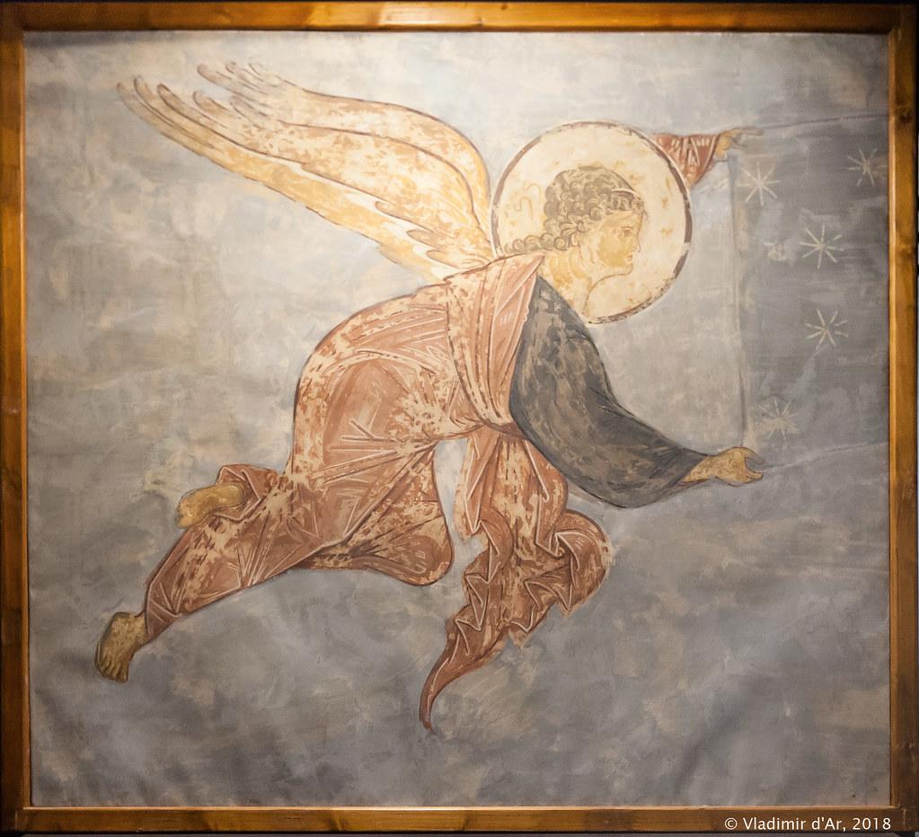 Страшный Суд. Летящий Ангел. Андрей Рублев. Копия.