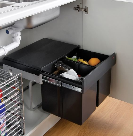 the best way to organize cleaning supplies under the sink in kitchen