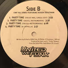 UWF FUNK ALLSTARS FEATURING ROGER TROUTMAN:PARTY TIME(LABEL SIDE-B)