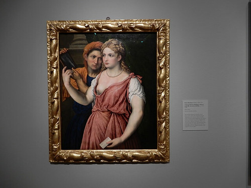 DSCN2675 - A Young Woman Holding a Mirror with Her Servant, Parus Bordone, The Pre-Raphaelites & the Old Masters