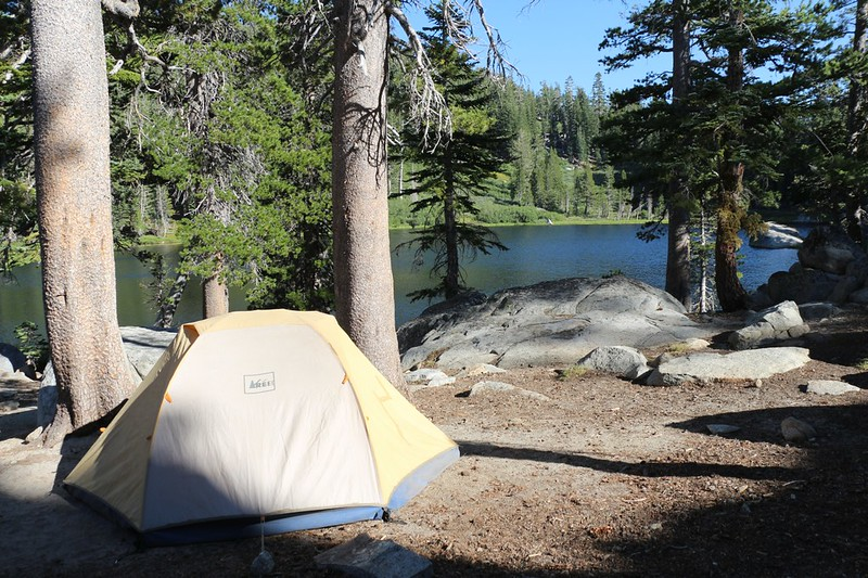Our campsite on the north shore of Rubicon Lake - we'd be spending two nights here