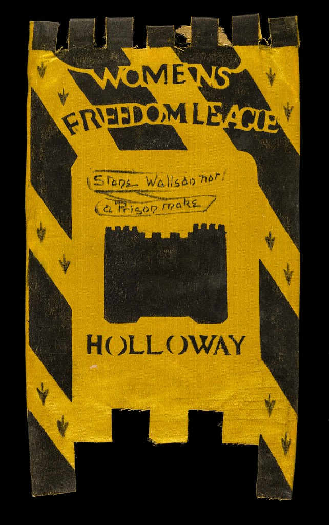 Miniature Banner Women's Freedom League. Credit: LSE Library