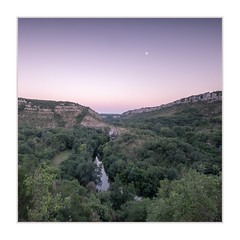 Moonrise in the Ardeche