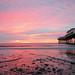 Pastel colours at Paignton beach
