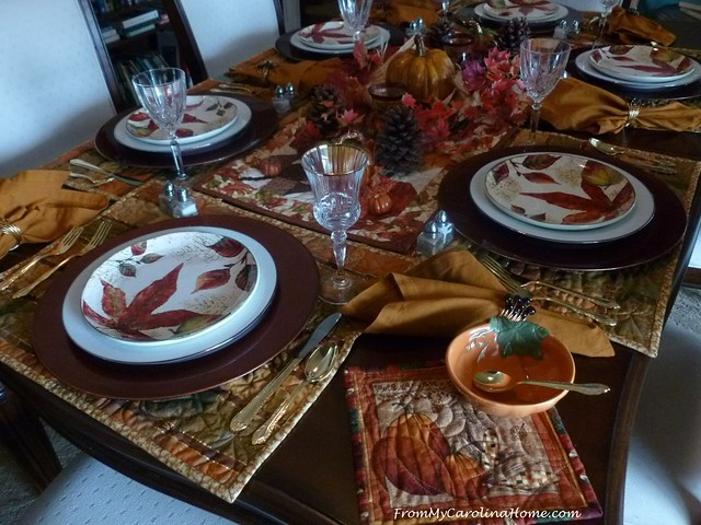 Autumn Tablescape at From My Carolina Home
