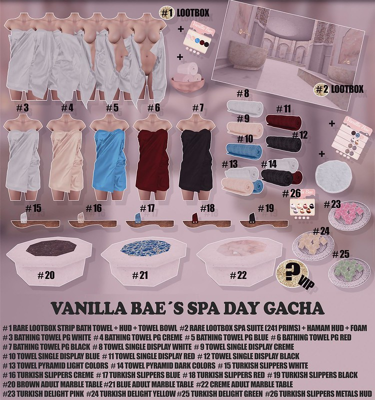 Vanilla Bae Spa Day Gacha Key