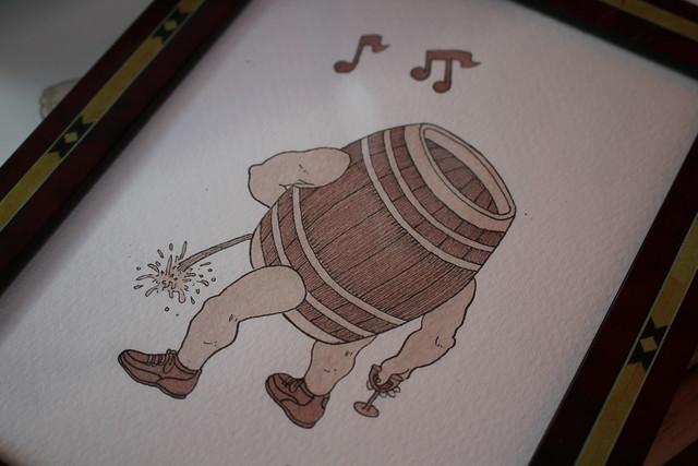 Di Vin Sang par Mauro Ceballos - BD dessinée avec du vin