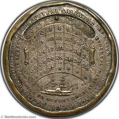 Ellis and Read Perpetual Calendar Medal reverse
