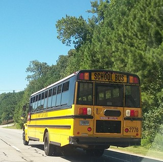 Whats a school bus doing on a Saturday?