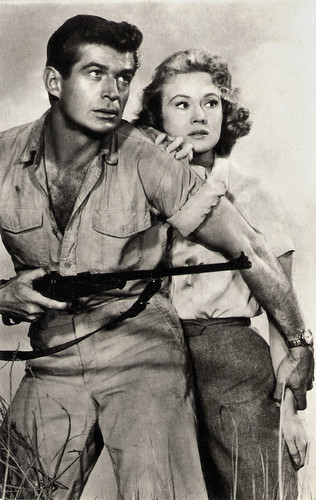 George Nader and Virginia Mayo in Congo Crossing (1956)