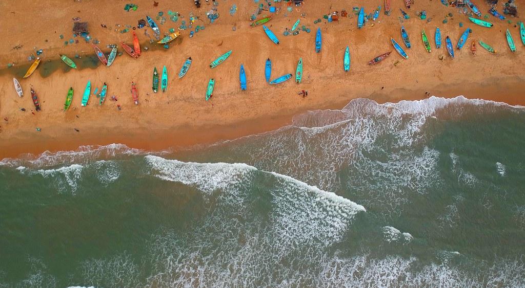 Mahabalipuram Beach view!
