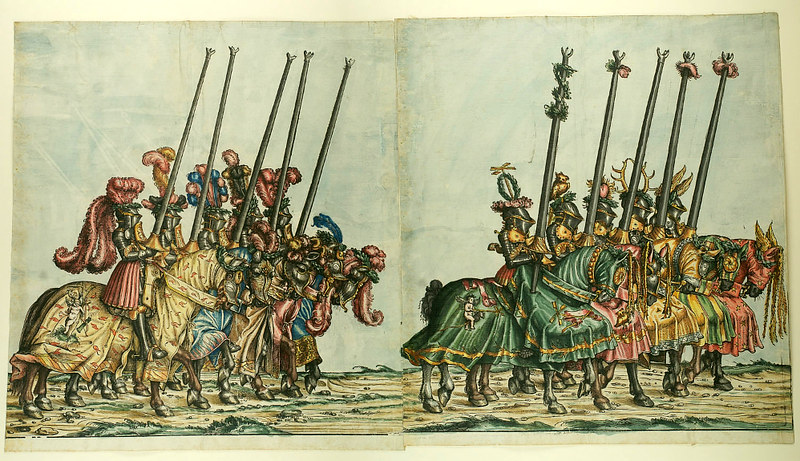 Triumphzug Kaiser Maximilians I, 1526, f. 60-61, Universitätsbibliothek Graz
