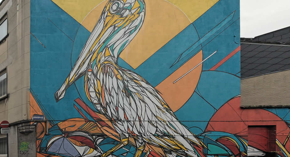 Street art in Mechelen, Mechelen Muurt: Dzia | Mooistestedentrips.nl