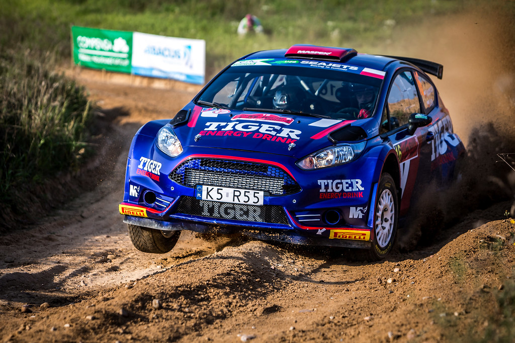 16 KASPERCZYK Tomasz (POL), SYTY Damian (POL), TIGER ENERGY DRINK RALLY TEAM, Ford Fiesta R5, action during the 2018 European Rally Championship Rally Poland at Mikolajki from September 21 to 23 - Photo Thomas Fenetre / DPPI