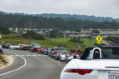 Parade cars at the 17 Mile Drive