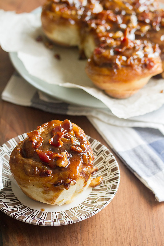 Maple-Bourbon Sticky Buns with Bacon