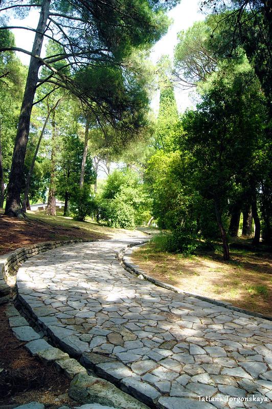 Пейзаж из Городского парка с прогулочной дорожкой