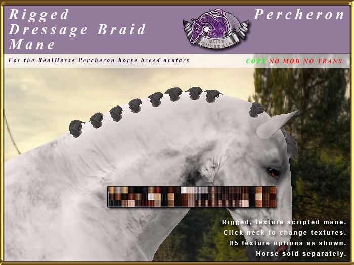 E-RHPercheron-DressageBraidMane - TeleportHub.com Live!