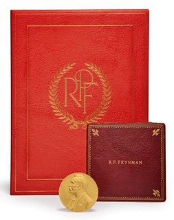 Feynman Nobel Prize medal with case