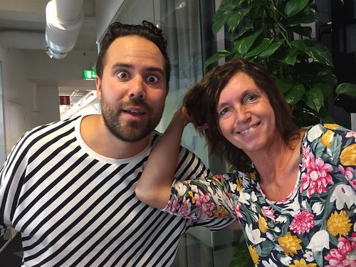 Erik Rosales och Anja Praesto