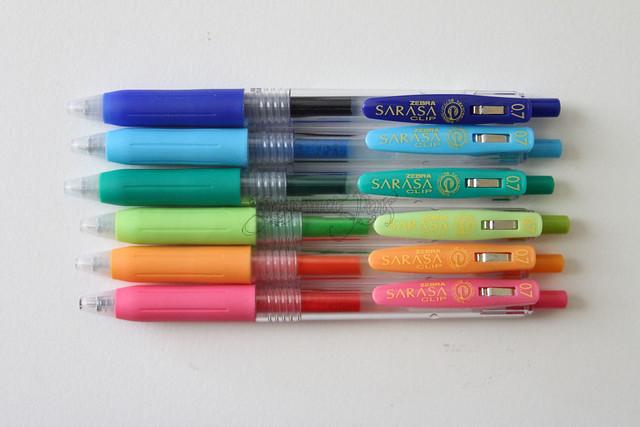 Zebra Sarasa Clip Gel Pens @ZebraPen @ZebraPenUK 2