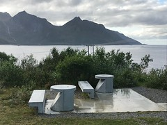 Benches with tables - Senja-style