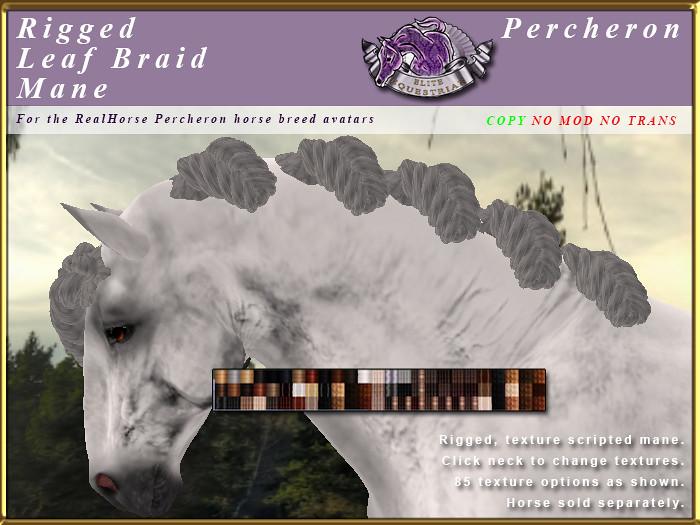 E-RHPercheron-LeafBraidMane - TeleportHub.com Live!