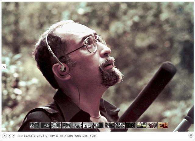 Irv Teibel-with shotgun mike