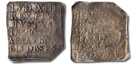 1641 Aire-sur-la-Lys klippe seige coin
