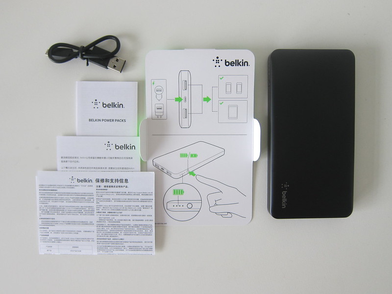 Belkin Pocket Power 10K Power Bank - Box Contents