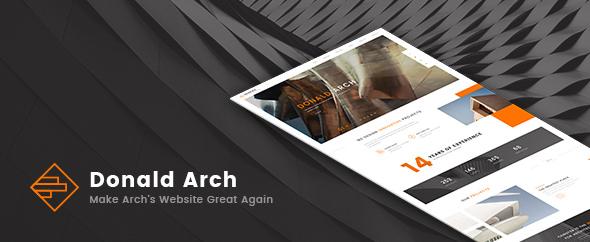 Donald Arch v1.0.5 – Creative Architecture Theme