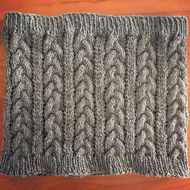 #braidedcowl #knitting #handspun #knittinghandspun