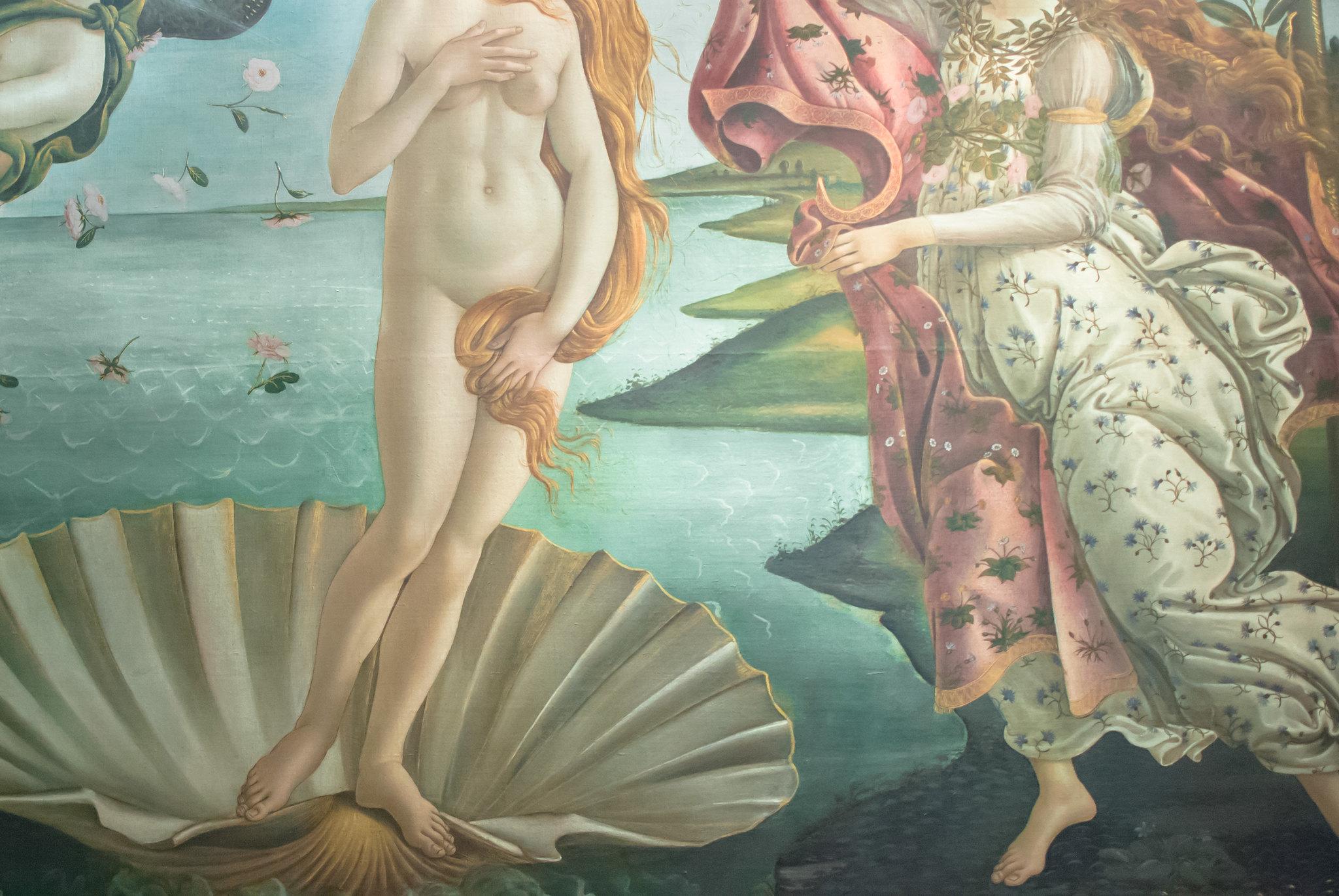 Botticelli, Venere, dettaglio