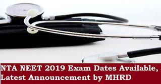 NEET 2019 dates announced