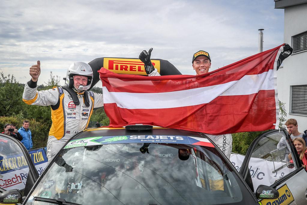 39 Sesks MartinS, Francis Renars, LVA/LVA, ADAC Opel Rallye Junior Team, Opel Adam R2, Winner during the 2018 European Rally Championship ERC Barum rally,  from August 24 to 26, at Zlin, Czech Republic - Photo Alexandre Guillaumot / DPPI