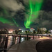 Aurora over Downtown Yellowknife