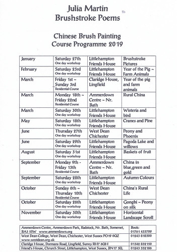 2019 course listing