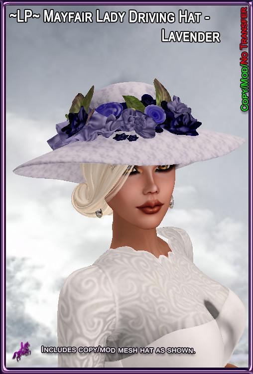 LP-MayfairLadyDrivingHat-Lavender - TeleportHub.com Live!