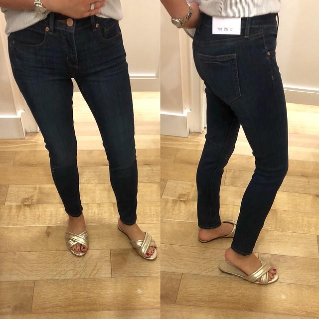 LOFT Modern Skinny Jeans in Staple Dark Indigo Wash, size 25/0P