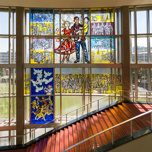 Realsozialistische Glas Kunst