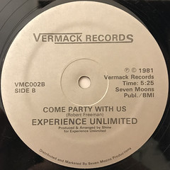 EXPERIENCE UNLIMITED:SECOND TIME AROUND(LABEL SIDE-B)