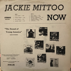JACKIE MITTOO:NOW(JACKET B)