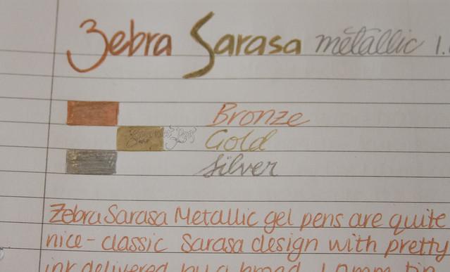 Zebra Sarasa 1.0 Metallic Gel Pens @ZebraPen @ZebraPenUK 2