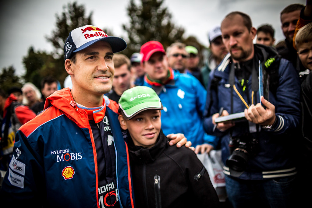 Sordo Daniel, ESP, Hyundai Motorsport, Hyundai i20 R5, Portrait during the 2018 European Rally Championship ERC Barum rally,  from August 24 to 26, at Zlin, Czech Republic - Photo Thomas Fenetre / DPPI