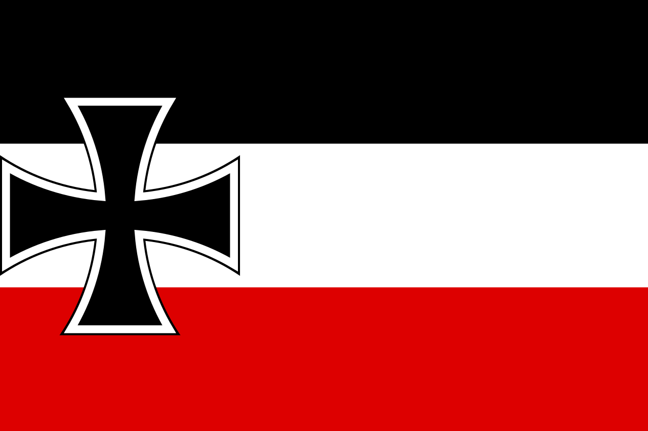 German merchant flag with Iron Cross, 1893-1903